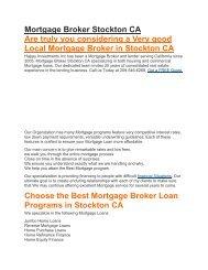 Mortgage Broker Stockton CA