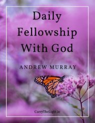 Daily Fellowship With God by Andrew Murray