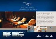 Day Spa / Spa Break Grand Resort Bad Ragaz