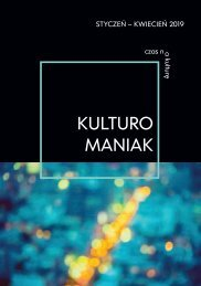 Kulturomaniak 1/2019