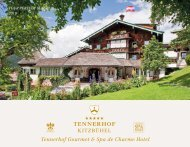 Tennerhof Gourmet & Spa de Charme Hotel Kitzbühel - English - Summer 2019