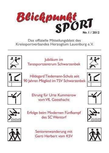 Ausgabe 1/2012 - Kreissportverband Herzogtum Lauenburg