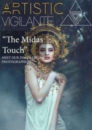 artistic vigilante magazine vol1..issue 3. 'THE MIDAS TOUCH''