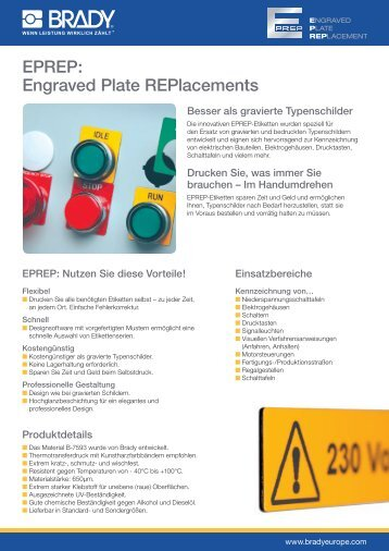 EPREP: Engraved Plate REPlacements - Baum Electronic