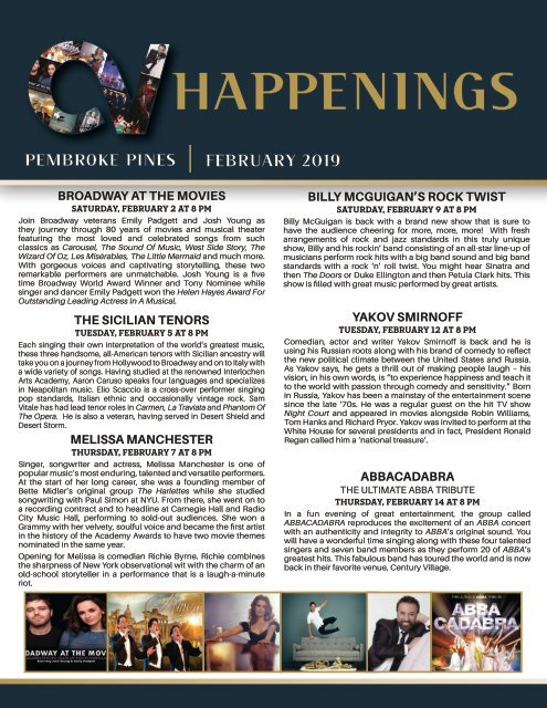 Pembroke Pines February 2019 Happenings