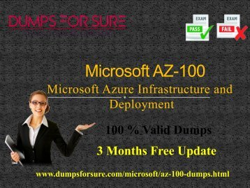 Microsoft AZ-100 Dumps