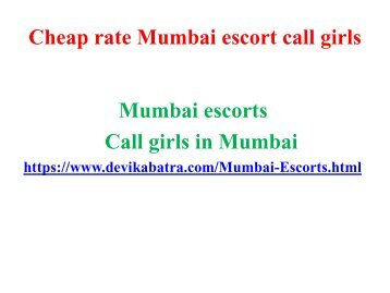 Cheap rate Mumbai escort call girls