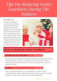 Find How to Reduce Senior Loneliness During The Holidays | Senior Assisted Living