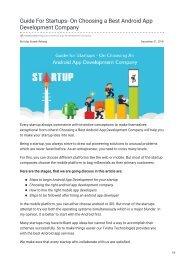 tvisha.com-Guide For Startups- On Choosing a Best Android App Development Company