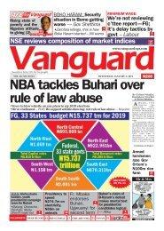 02012019 - NBA tackles Buhari over rule of law abuse