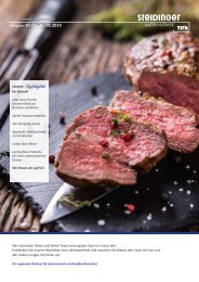 Steidinger Gastro Service - Monatsangebot Januar
