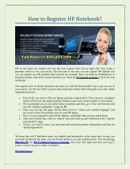 How to Register HP Notebook