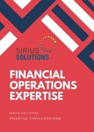 Strategic Solution For Managing Financial Operations | Sirius Solutions