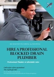 Why You Need To Hire A Professional Blocked Drain Plumber?