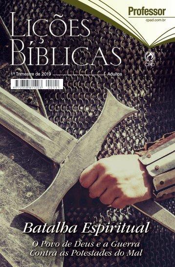 Lições Bíblicas Adultos 1 Trimestre 2019
