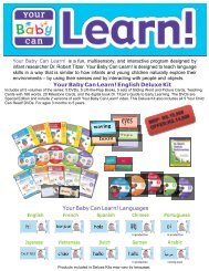 Your Baby Can Learn - Baby Learning Kit for Infants