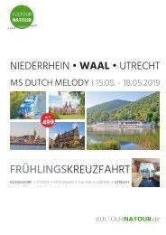 FrühlingsKREUZFAHRT Düsseldorf - Utrecht