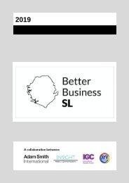 Better Business Sierra Leone Calendar 2019