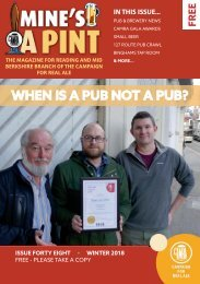 Mine's a Pint - Winter 2018