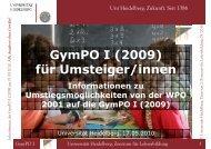 GymPO I (2009) für Umsteiger/innen - Universität Heidelberg