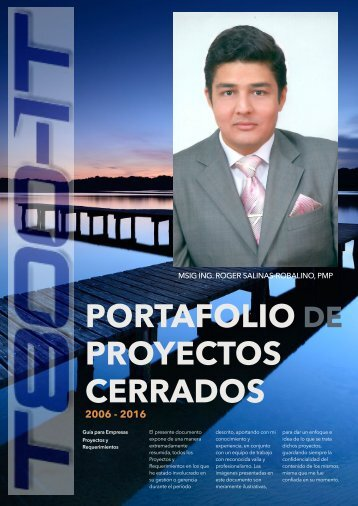 Portafolio Proyectos MSIG Ing. Roger Salinas Robalino, PMP