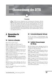 Ehrenordnung des DTTB - Deutscher Tischtennisbund DTTB