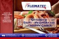 Catálogo de Maquinaria para la Industria Cárnica Fleimatec - ENERO 2019