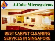 Best Carpet cleaning services in Singapore