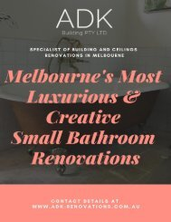 Melbourne's Most Luxurious & Creative Small Bathroom Renovations