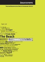 ZusatzstoFFe - Theater Heidelberg