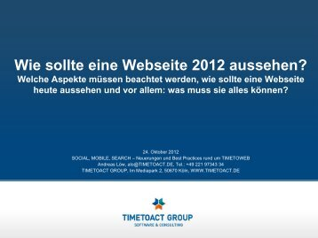 Moderne Webseite - TimetoAct
