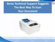 Xerox Technical Support Suggests The Best Way To Scan YourDocument