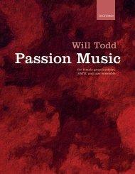 Will Todd Passion Music vocal score