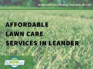 Affordable lawn care service in Leander