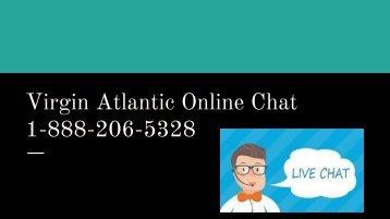 Virgin Atlantic Online Chat 1-888-206-5328