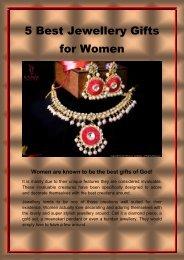 5 best jewellery gifts for women