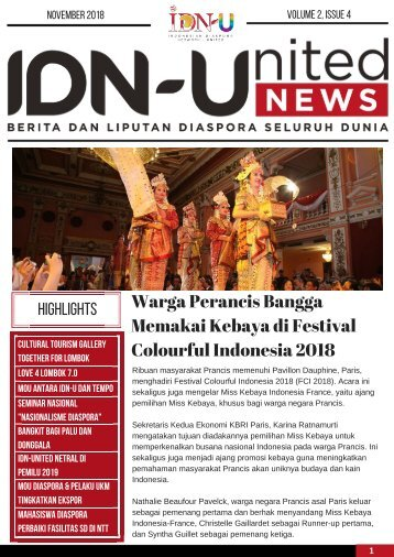 IDN-United News Edisi November 2018