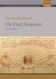 Cecilia McDowall Da Vinci Requiem vocal score