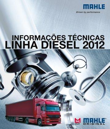 Tabela de Parede Mahle - Linha Diesel - 2012