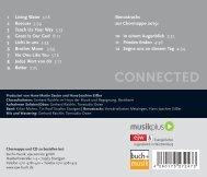 Inhaltsverzeichnis Connected CD