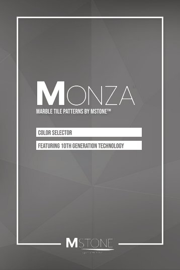 MONZA™ - Marble Tile Patterns by MSTONE™