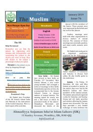 Muslim News No 76 January 2019 Final with planner