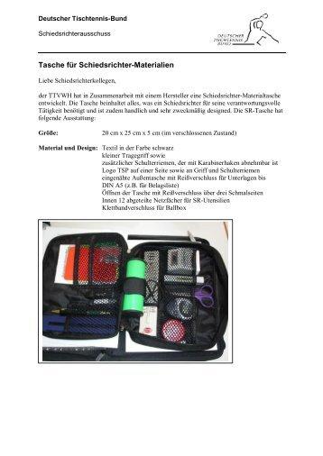 Tasche für Schiedsrichter-Materialien