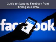 Guide to Stopping Facebook from Sharing Your Data