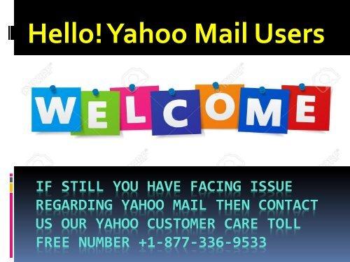 Yahoo Customer Help Number 1877-503-0107