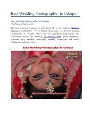 Best Wedding Photographer In Udaipur