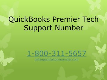QuickBooks Premier Tech Support Number