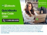 [Fixed] QuickBooks Update Error 12031 - QuickBooks Support & Help