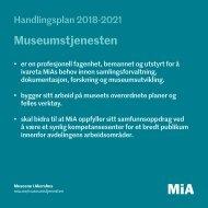 Handlingsplan 2018-2021 for Museumstjenesten
