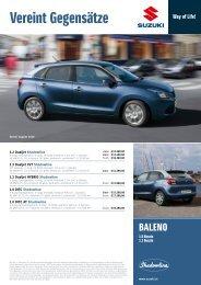BALENO Shadowline Preise, Ausstattung und technische Daten